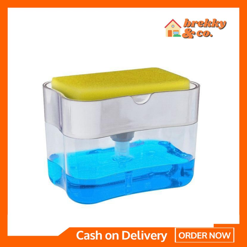 BREKKY™ 2-in-1 Soap Pump Dispenser and Sponge Holder