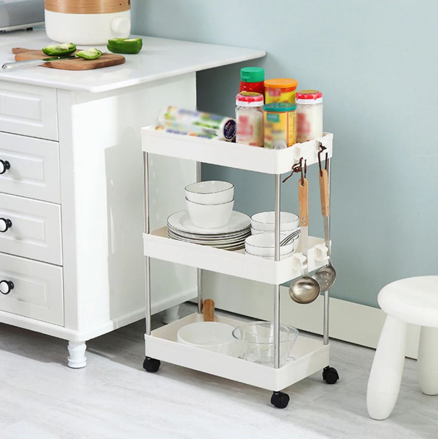 BREKKY™ 4 Layer Movable Bathroom Kitchen Rack