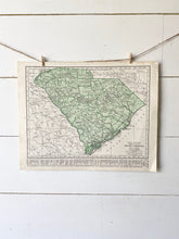 Load image into Gallery viewer, South Carolina / South Dakota Vintage Map