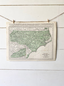 North Carolina Vintage Map