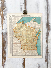Load image into Gallery viewer, West Virginia / Wisconsin Vintage Map