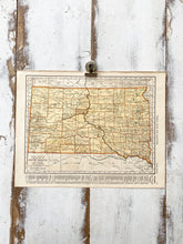 Load image into Gallery viewer, Texas / South Dakota Vintage Map