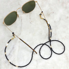 Monochrome Sunnies Chain with Pearls