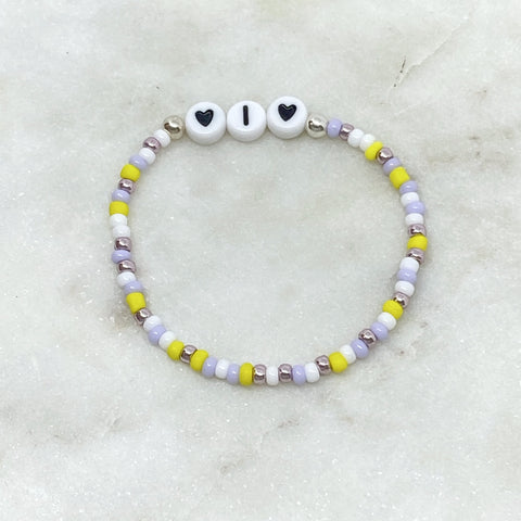 Childs Simple Personalised Letter Bracelet
