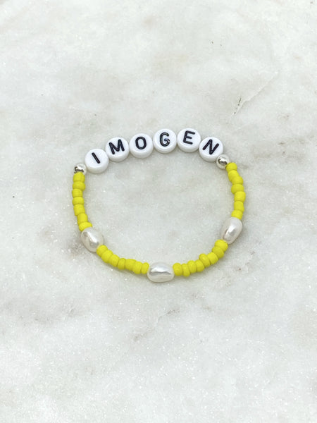 Childs Personalised Letter Bracelet