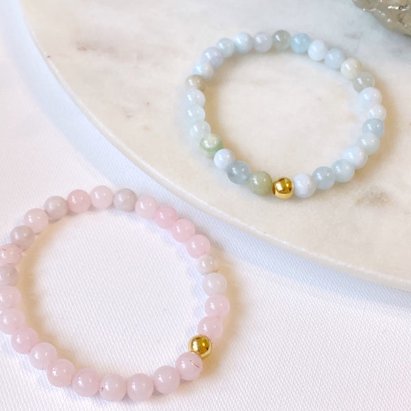 Semi Precious Bubble Bead Bracelet