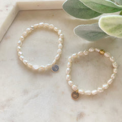 Personalised Pearl Bracelets with Initials