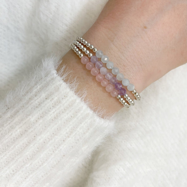 Amethyst 'With Love' Bracelet