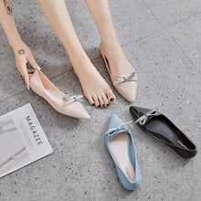 Load image into Gallery viewer, Women All Seasons Chic Pointy Bow TPU Flats Jelly Shoes Ballet Shoes    222