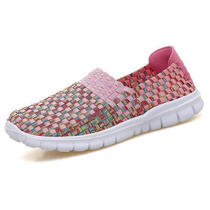 Fashion ladies lightweight super comfortable hand-knitted shoes