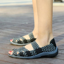 Load image into Gallery viewer, Female Casual Peep Toe  Slip On Elastic Band Leisure Solid Footwear