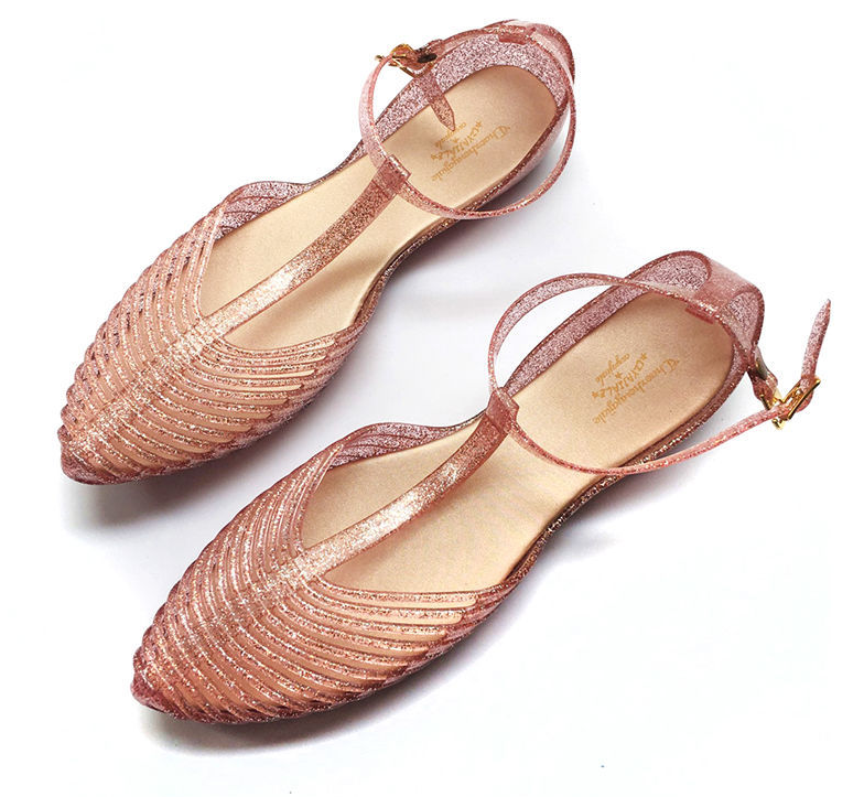 Women Fragrant Summer PVC Gladiator Jelly Shoes Flats Sandals Holiday Soft Shoes