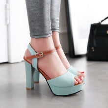 Load image into Gallery viewer, Women Large Size Fashion Soft Leather Sandals High Heel Shoes