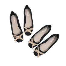 Load image into Gallery viewer, Women Low-cut Uppers Square-toe Chic Bow Flats PVC Jelly Shoes     222