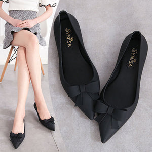 2020 Summer Woman Pointed Toe Transparent Flat Shoes