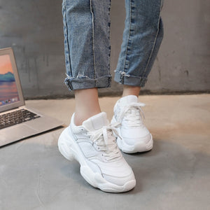 Women Anti Skid Waterproof PU Casual Sneakers Girls Running Shoes