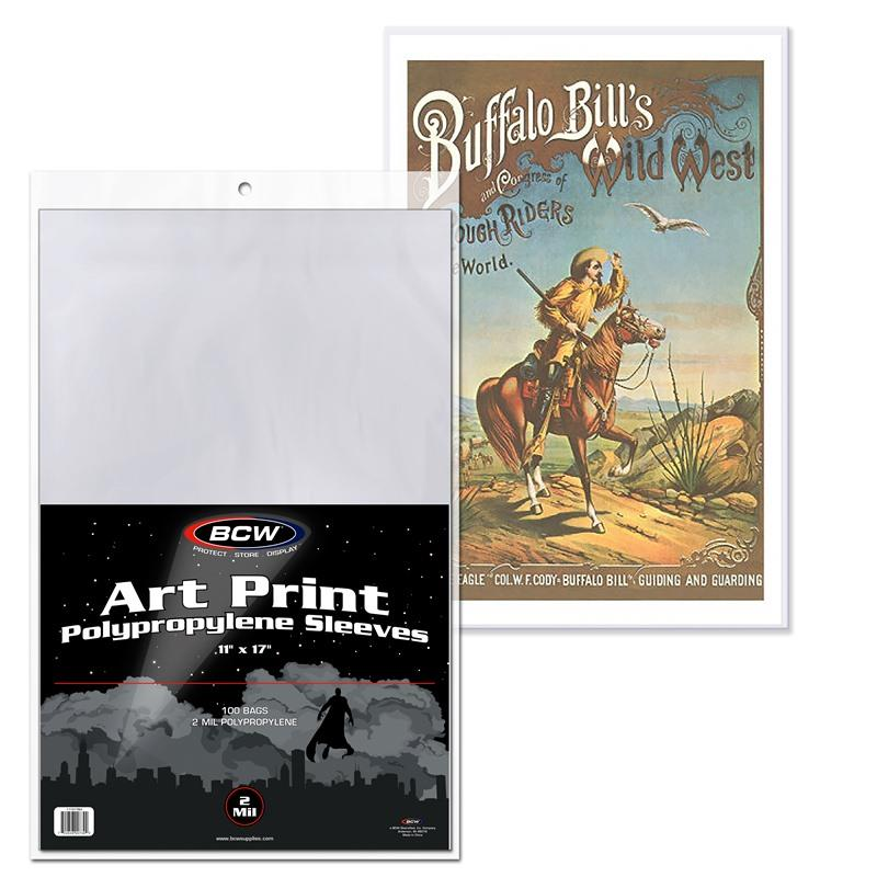"BCW 11"" x 17"" Art Print Sleeves - Documents & Photos - BCW - hobbymasterstore"