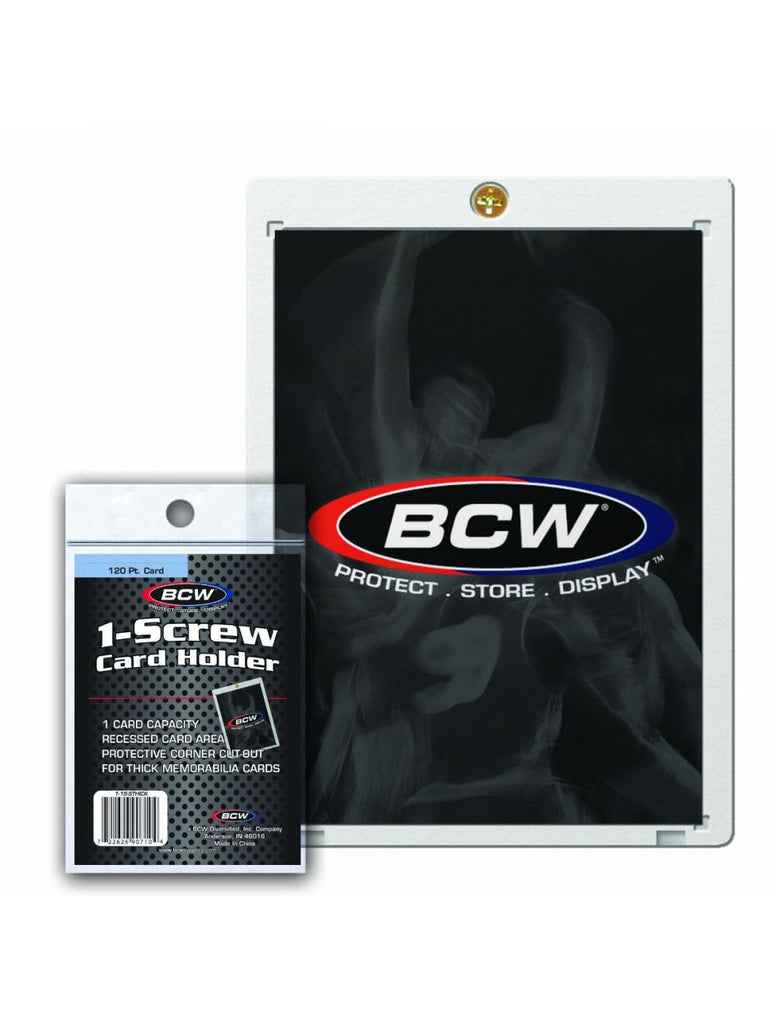 BCW 1-Screw Super Thick Baseball Card Holder - 120 Pt. - 1-1S-STHICK