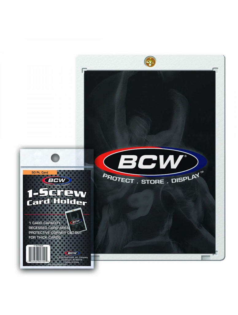 BCW 1-Screw Thick Baseball Card Holder - 50 Pt. - 1-1S-THICK
