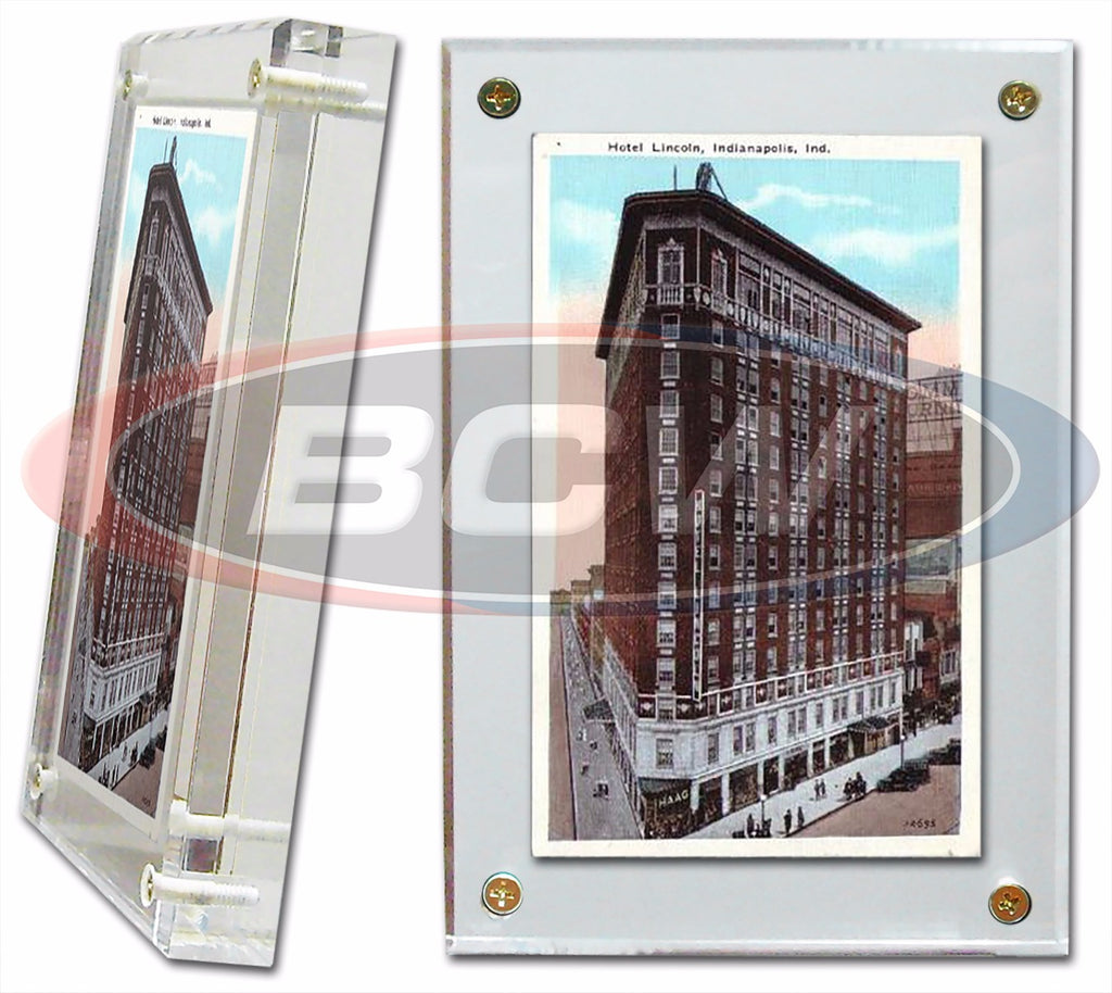 BCW 1-inch Acrylic Postcard or Photo Screw-down Holder - Screwdown Display Frames - hobbymasterstore - hobbymasterstore