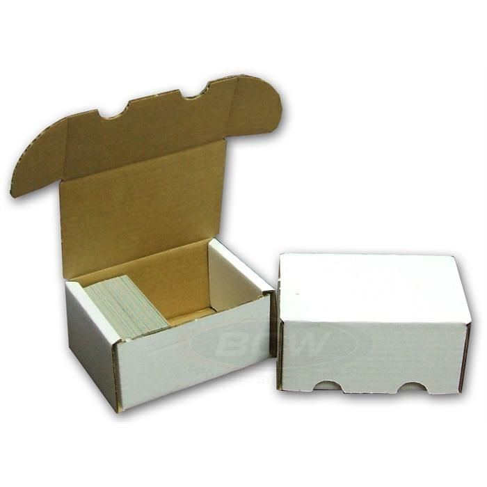 BCW Corrugated Cardboard Storage Box for 300 trading cards - Storage Boxes - Hobby Master - hobbymasterstore