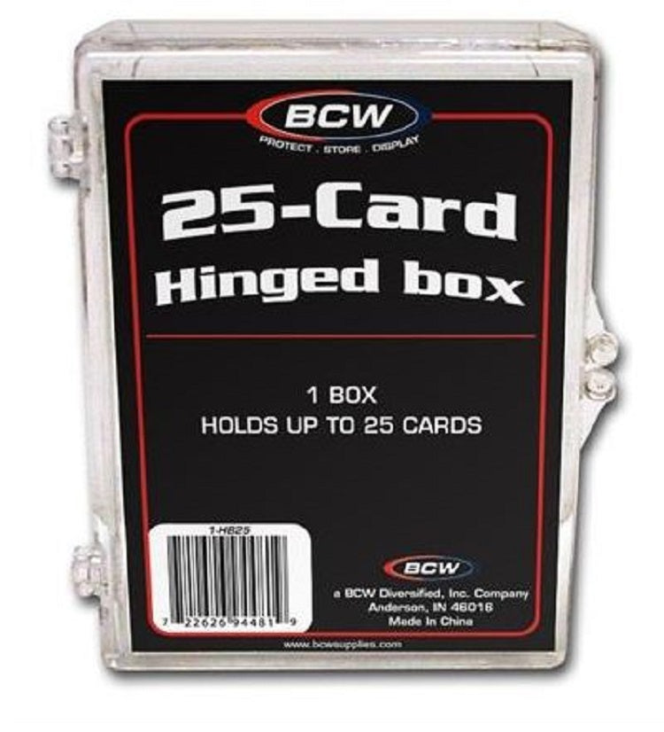 BCW 25-Card Hinged Box