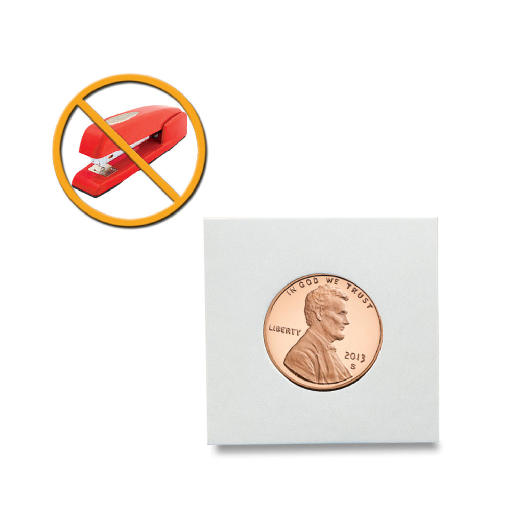 "Peel-N-Seal Coin Flips 2"" x 2"" - Adhesive seal - No staples required - Coin Holders - hobbymasterstore - hobbymasterstore"