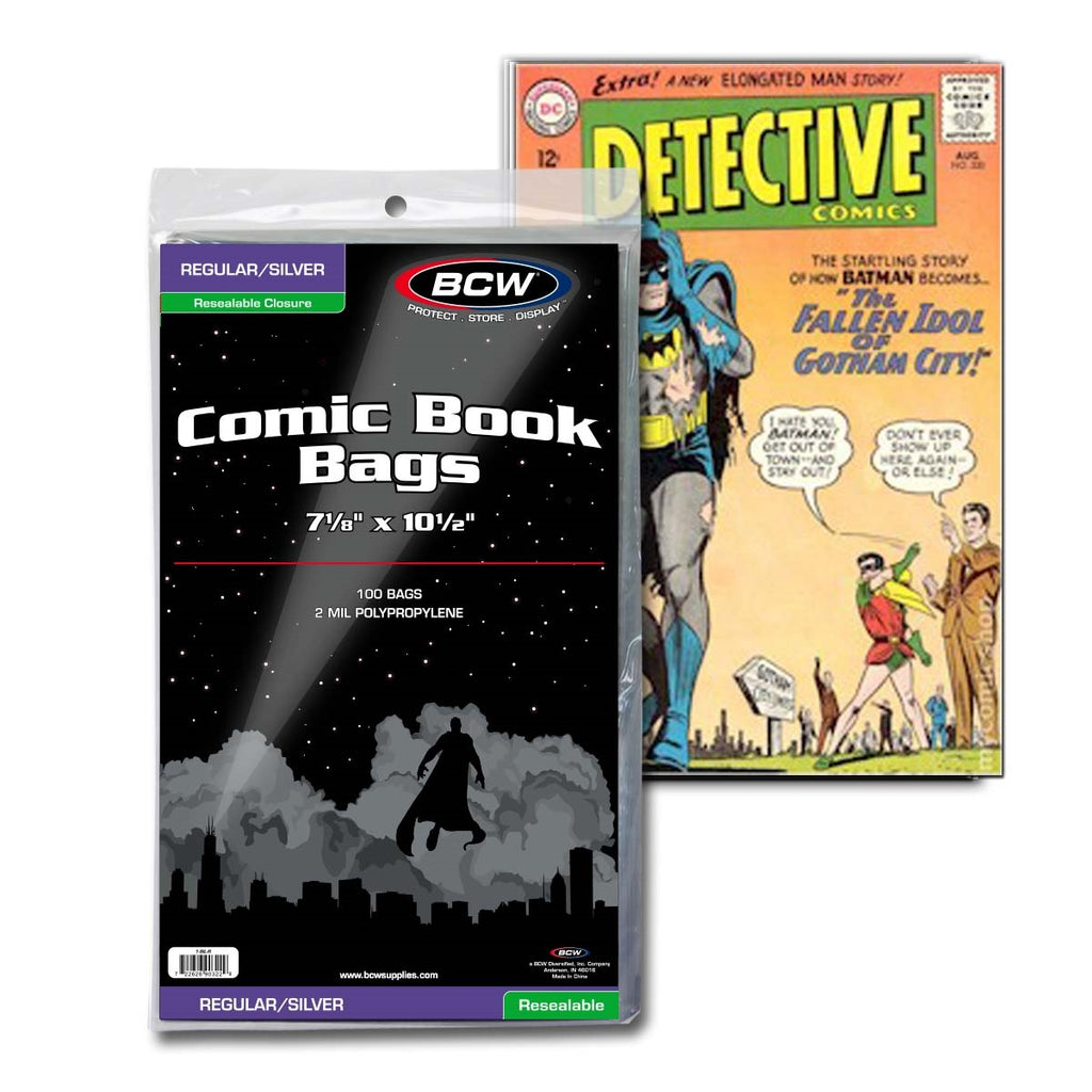 Resealable Silver Age Comic Bags - Comic Books - Hobby Master - hobbymasterstore