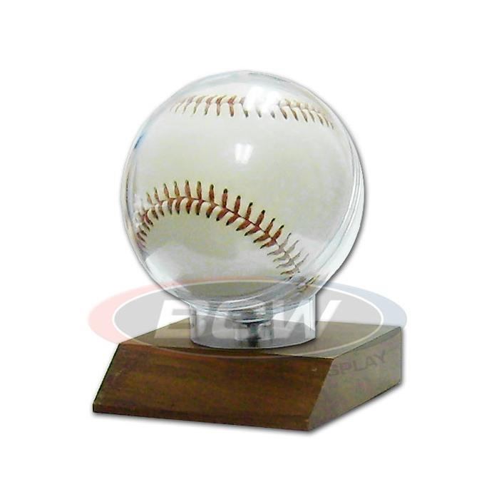 BCW Woodbase Baseball Holder 1-WOODBH - Sports display cases - hobbymasterstore - hobbymasterstore