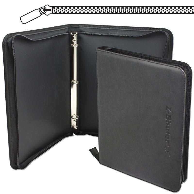 1/2 inch Faux Leather 3-ring Binder with Wrap Around Zipper Closure - Binder - BCW - hobbymasterstore