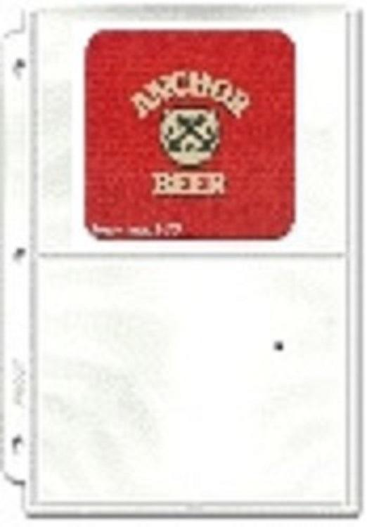 2-Pocket Protective Pages - Beer Coaster Pages - Hobby Master - hobbymasterstore
