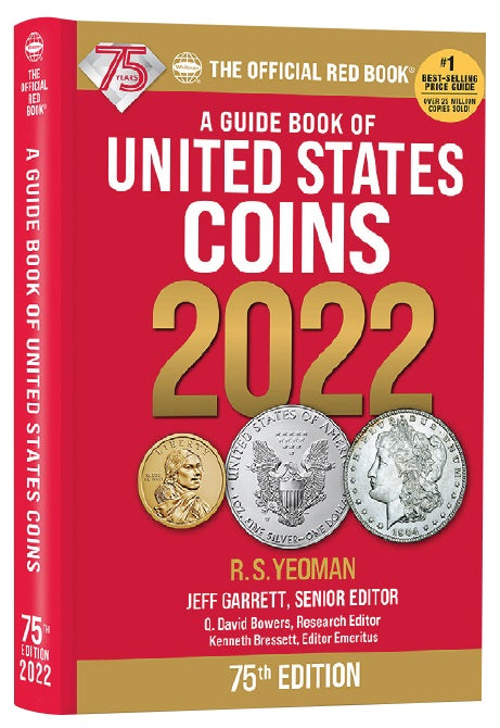 Official 2022 Red Book - A Guide Book of United States Coins - Hidden spiral hard cover