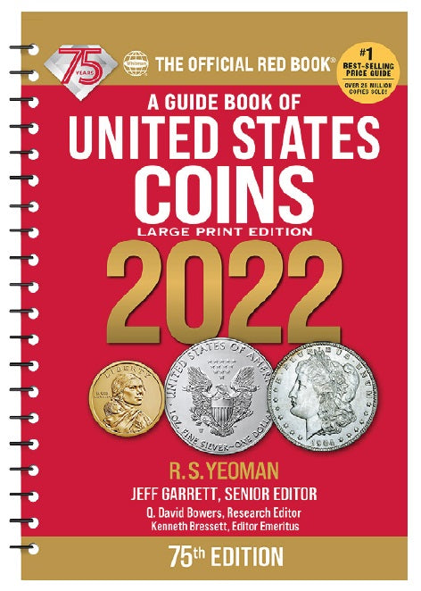 Official 2022 Red Book - A Guide Book of United States Coins - Large Print Edition