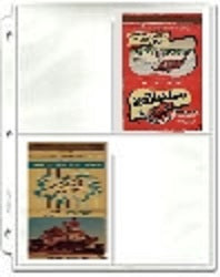 40-Strike Matchcover Protective Pages - Matchcover Pages - Hobby Master - hobbymasterstore