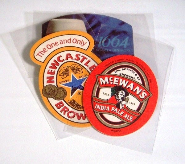 "Beer Coaster Soft Sleeves 3 11/16"" x 5¾"" - Beer Coaster Soft & Rigid Sleeves - Hobby Master - hobbymasterstore"