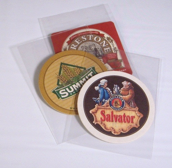 "Beer Coaster Soft Sleeves 4 3/8"" x 6¼"" - Beer Coaster Soft & Rigid Sleeves - Hobby Master - hobbymasterstore"