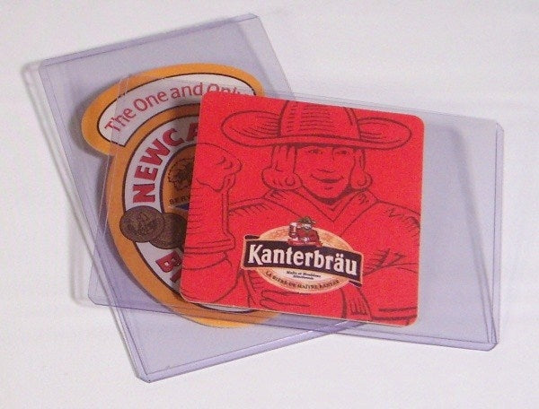 "Beer Coaster Rigid Sleeves 5.875"" x 3.75"" - Beer Coaster Soft & Rigid Sleeves - Hobby Master - hobbymasterstore"