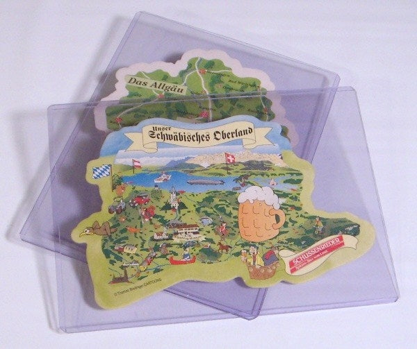 "Beer Coaster Rigid Sleeves 5"" x 7"" - Beer Coaster Soft & Rigid Sleeves - Hobby Master - hobbymasterstore"