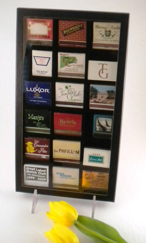 Matchbook Display Case, 18 space 30-Strike - Matchbook Displays - Hobby Master - hobbymasterstore
