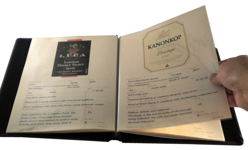 Cellar Notes Leather Wine Label and Tasting Journal - Wine Journals - Hobby Master - hobbymasterstore