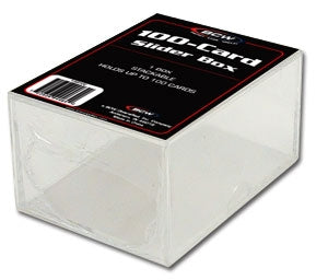 Bcw 2 piece slider box , 100 count
