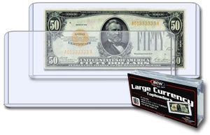 Large Currency Toploaders - Coins & Currency Sleeves & Toploaders - Hobby Master - hobbymasterstore