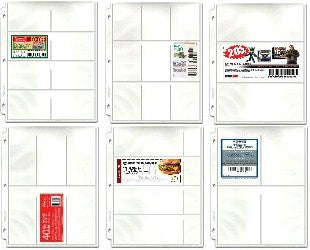 Coupon Binder Pages - Starter 20 Page Assortment (6 page types) with Bonus Sleeve - Coupon Pages - Hobby Master - hobbymasterstore