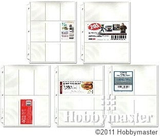 Coupon Binder Pages - Starter 20 Page Assortment (5 page types) with Bonus Sleeve - Coupon Pages - Hobby Master - hobbymasterstore