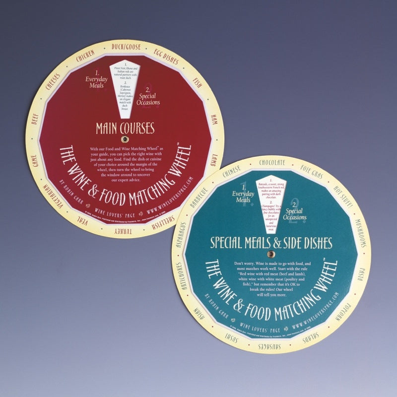 Wine & Food Matching Wheel - Wine Tasting - Hobby Master - hobbymasterstore