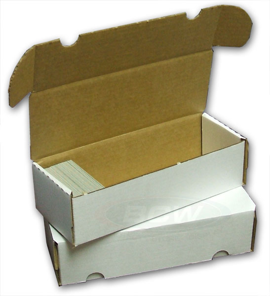 Corrugated Storage Box for 550 Cards - Sleeves & Toploaders - Hobby Master - hobbymasterstore