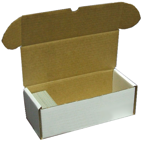 Corrugated Storage Box for 500 Cards - Sleeves & Toploaders - Hobby Master - hobbymasterstore