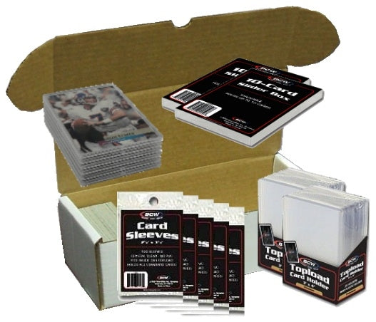 Trading Card Collector Essential Supplies Bundle - Trading Card Sleeves & Screwdowns - Hobby Master - hobbymasterstore
