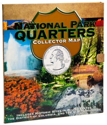 National Park Quarters Collector Map - State Quarters - Hobby Master - hobbymasterstore