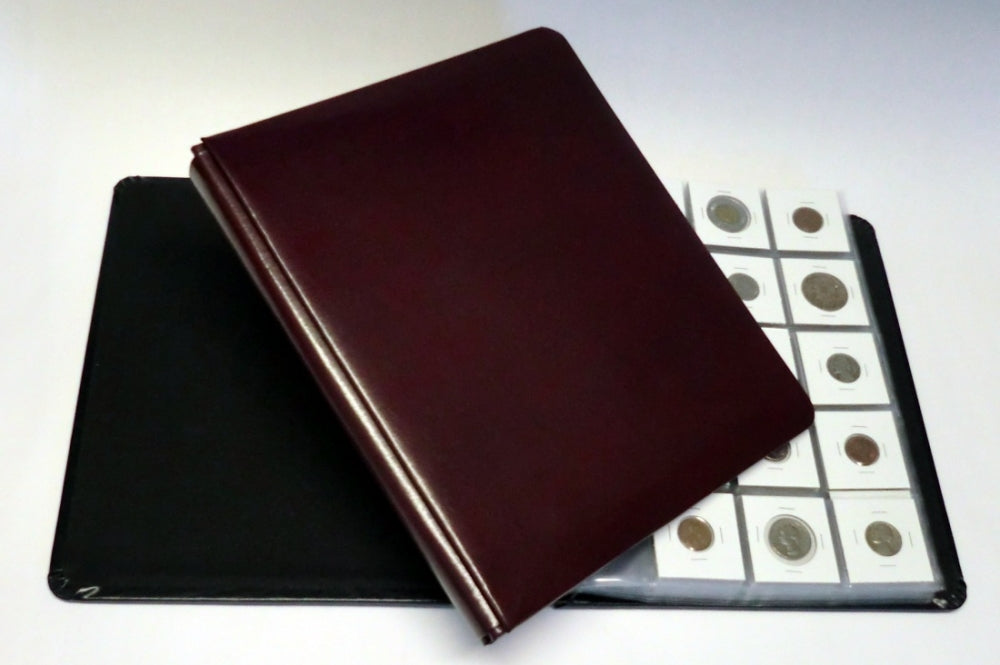 Impresse Leather Coin Album - Coin & Currency Albums - Hobby Master - hobbymasterstore